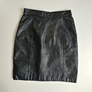Leather skirt Wilsons suede and leather vintage